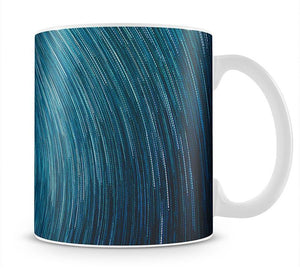 Blue Star Abstract Painting Mug - Canvas Art Rocks - 1