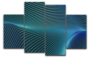Blue Toned Waves 4 Split Panel Canvas - Canvas Art Rocks - 1