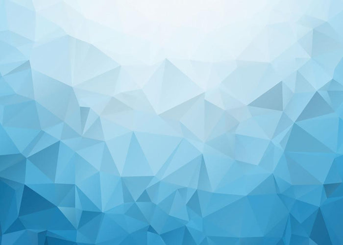 Blue Triangle Texture Wall Mural Wallpaper