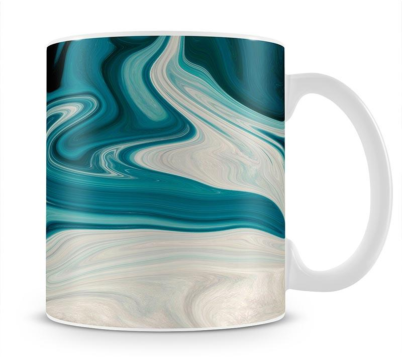 Blue Water Splash Mug - Canvas Art Rocks - 1