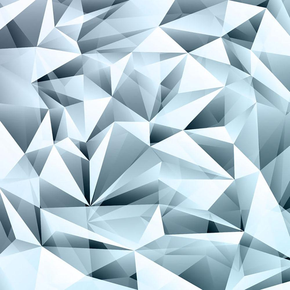 Blue Abstract Crystal Wall Mural Wallpaper