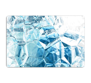 Blue and White Crystal HD Metal Print - Canvas Art Rocks - 1