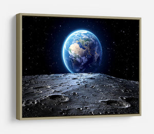 Blue earth seen from the moon surface HD Metal Print