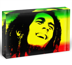Bob Marley Acrylic Block - Canvas Art Rocks - 1