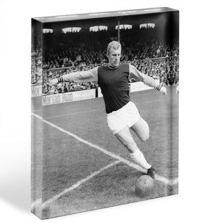 Bobby Moore West Ham Footballer Acrylic Block - Canvas Art Rocks - 1
