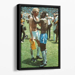 Bobby Moore and Pele Floating Framed Canvas