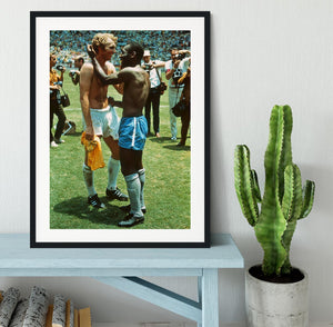Bobby Moore and Pele Framed Print - Canvas Art Rocks - 1