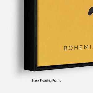Bohemian Rhapsody Rami Malek Minimal Movie Floating Frame Canvas - Canvas Art Rocks - 2