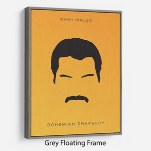 Bohemian Rhapsody Rami Malek Minimal Movie Floating Frame Canvas - Canvas Art Rocks - 3