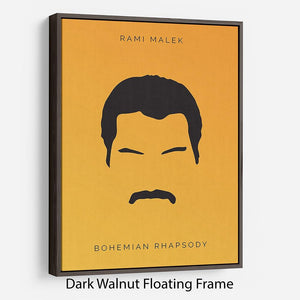 Bohemian Rhapsody Rami Malek Minimal Movie Floating Frame Canvas - Canvas Art Rocks - 5