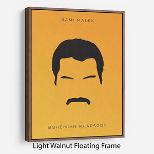 Bohemian Rhapsody Rami Malek Minimal Movie Floating Frame Canvas - Canvas Art Rocks - 7