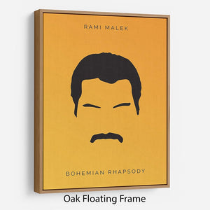 Bohemian Rhapsody Rami Malek Minimal Movie Floating Frame Canvas - Canvas Art Rocks - 9