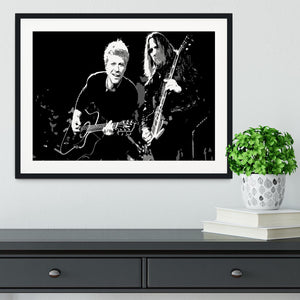 Bon Jovi Framed Print - Canvas Art Rocks - 1