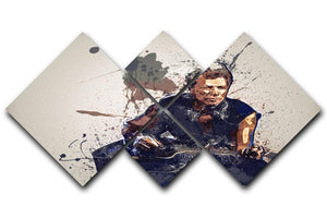 Bon Jovi Plain Splatter 4 Square Multi Panel Canvas  - Canvas Art Rocks - 1