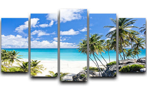 Bottom Bay Barbados 5 Split Panel Canvas - Canvas Art Rocks - 1