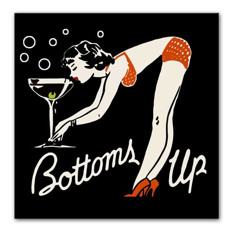 "Martini ""Bottoms Up"" Print - They'll Love Wall Art"