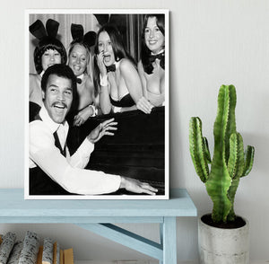 Boxer John Conteh with bunny girls at the playboy club Framed Print - Canvas Art Rocks -6