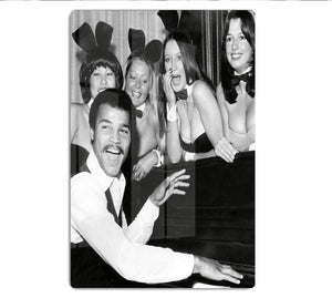 Boxer John Conteh with bunny girls at the playboy club HD Metal Print - Canvas Art Rocks - 1