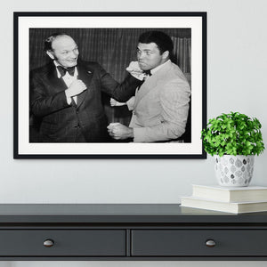Boxers Henry Cooper and Muhammad Ali Framed Print - Canvas Art Rocks - 1