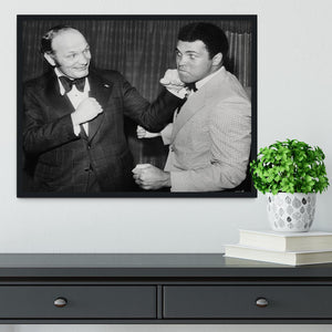 Boxers Henry Cooper and Muhammad Ali Framed Print - Canvas Art Rocks - 2