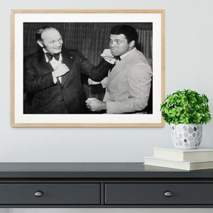 Boxers Henry Cooper and Muhammad Ali Framed Print - Canvas Art Rocks - 3