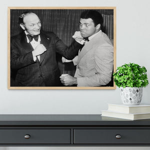 Boxers Henry Cooper and Muhammad Ali Framed Print - Canvas Art Rocks - 4