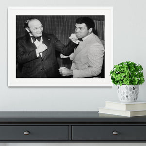 Boxers Henry Cooper and Muhammad Ali Framed Print - Canvas Art Rocks - 5