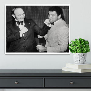 Boxers Henry Cooper and Muhammad Ali Framed Print - Canvas Art Rocks -6