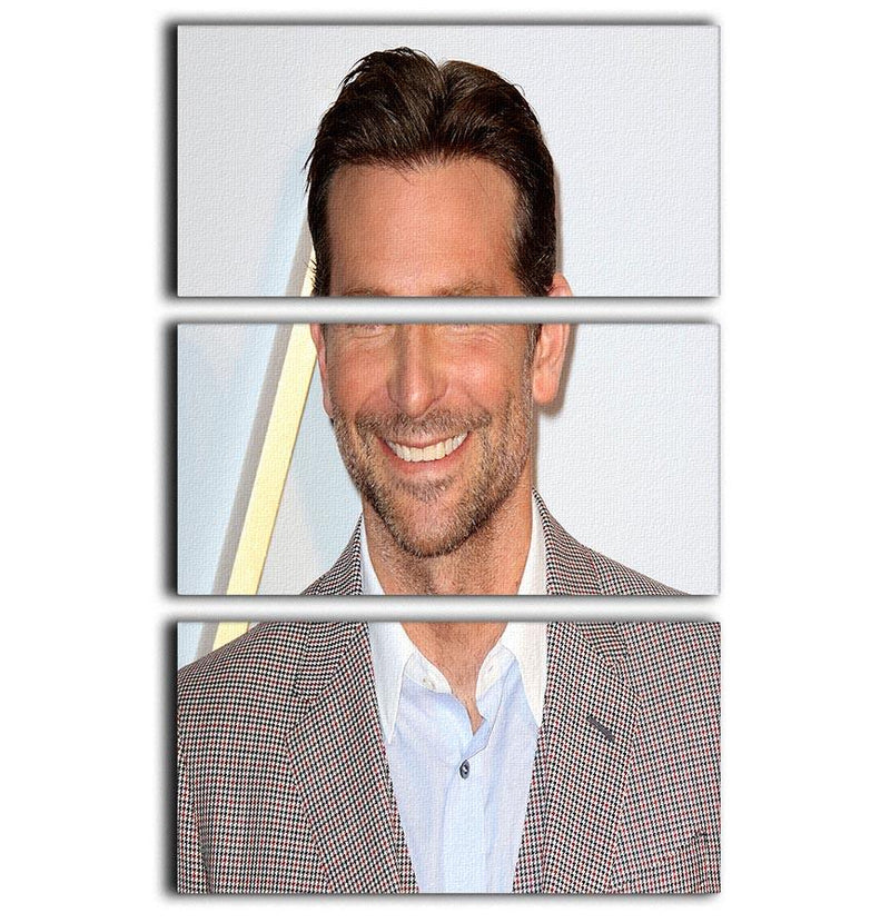 Bradley Cooper 3 Split Panel Canvas Print - Canvas Art Rocks - 1
