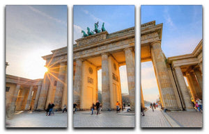 Brandenburg gate 3 Split Panel Canvas Print - Canvas Art Rocks - 1