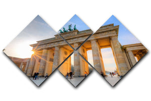 Brandenburg gate 4 Square Multi Panel Canvas  - Canvas Art Rocks - 1