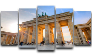 Brandenburg gate 5 Split Panel Canvas  - Canvas Art Rocks - 1