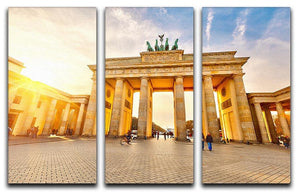 Brandenburg gate at sunset 3 Split Panel Canvas Print - Canvas Art Rocks - 1