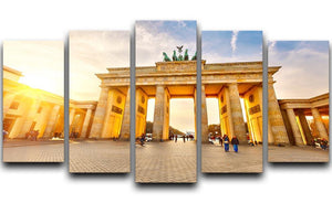 Brandenburg gate at sunset 5 Split Panel Canvas  - Canvas Art Rocks - 1