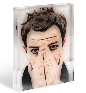 Brandon Flowers From The Killers Acrylic Block - Canvas Art Rocks - 1