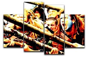 Braveheart 4 Split Panel Canvas  - Canvas Art Rocks - 1