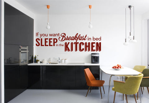 Breakfast In Bed Wall Sticker - They'll Love It - 1