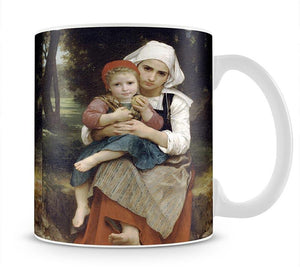 Breton Brother and Sister By Bouguereau Mug - Canvas Art Rocks - 1