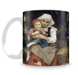 Breton Brother and Sister By Bouguereau Mug - Canvas Art Rocks - 2