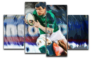 Brian ODriscoll 4 Split Panel Canvas  - Canvas Art Rocks - 1