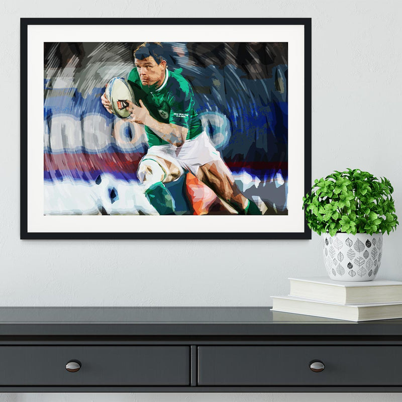 Brian ODriscoll Framed Print - Canvas Art Rocks - 1