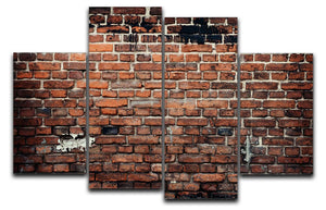 Brick wall background 4 Split Panel Canvas - Canvas Art Rocks - 1