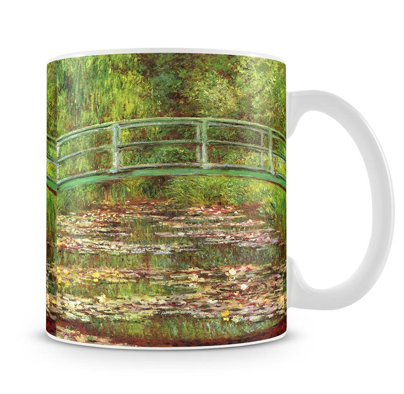 Bridge over the sea rose pond by Monet Mug - Canvas Art Rocks - 4