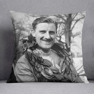 British racing driver Graham Hill Cushion