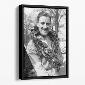 British racing driver Graham Hill Floating Framed Canvas