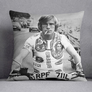 British racing driver James Hunt Cushion