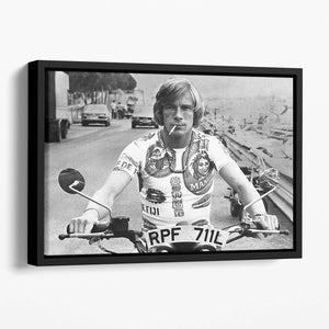 British racing driver James Hunt Floating Framed Canvas