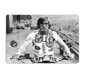 British racing driver James Hunt HD Metal Print