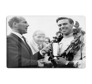 British racing drivers Jim Clark and Stirling Moss HD Metal Print