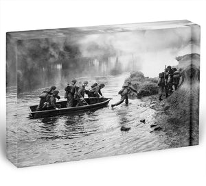 British troops training Acrylic Block - Canvas Art Rocks - 1